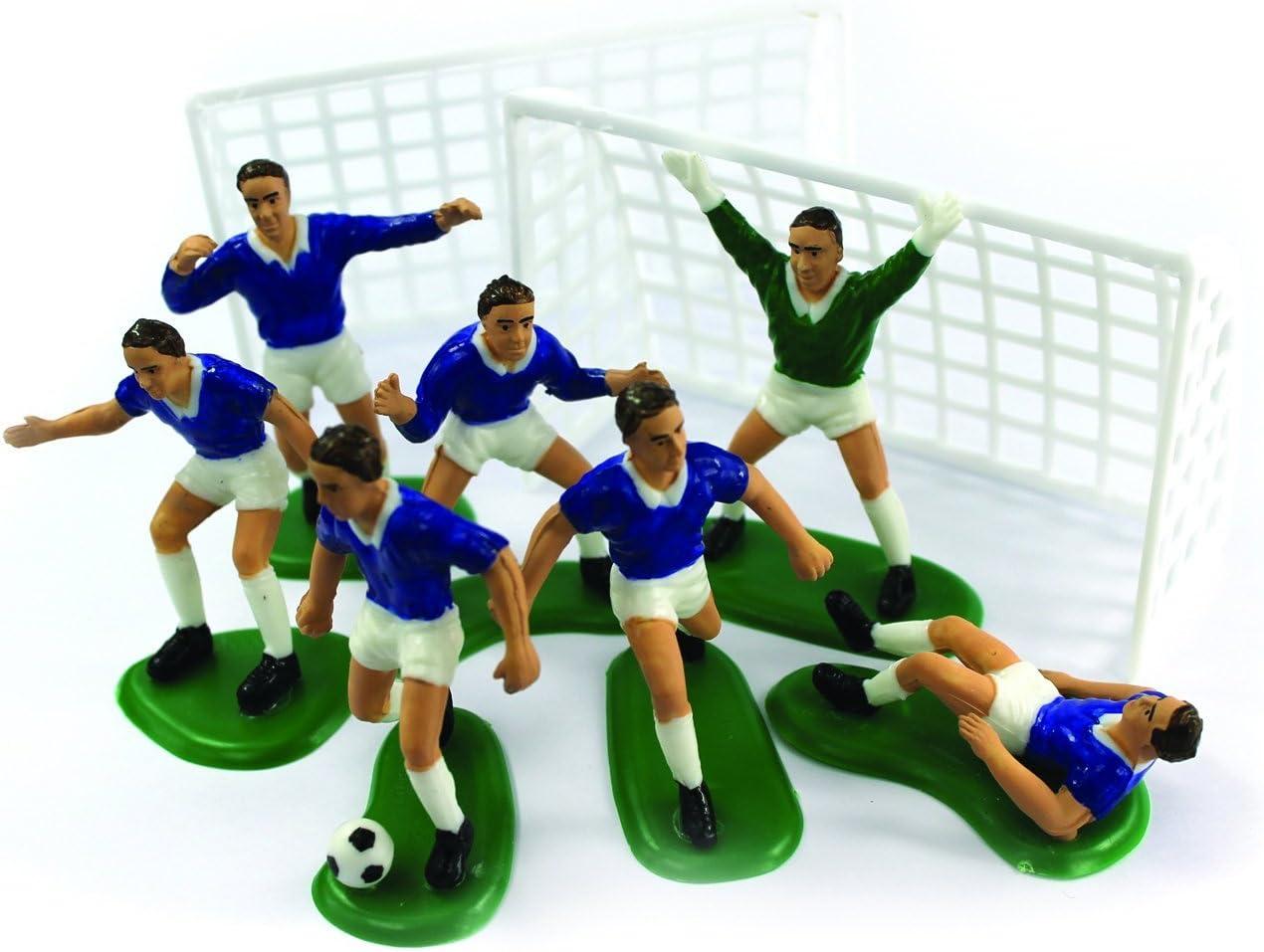 Creative Party M512 Blue Soccer Cake Decoration Set-9 Pcs