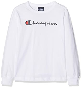 T À Ww001 Top Long LonguesBlancwht Champion Shirt Sleeve Manches tCBsxQrdoh