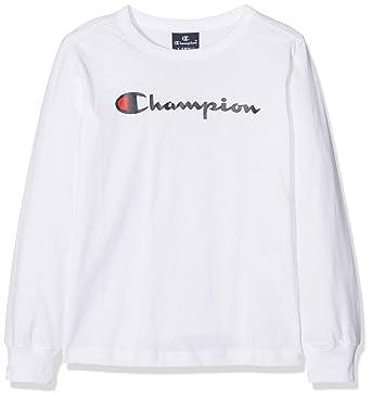 8ac039f66 Champion Boy's Long Sleeve Longsleeve T-Shirt, White (Wht Ww001), 3 ...