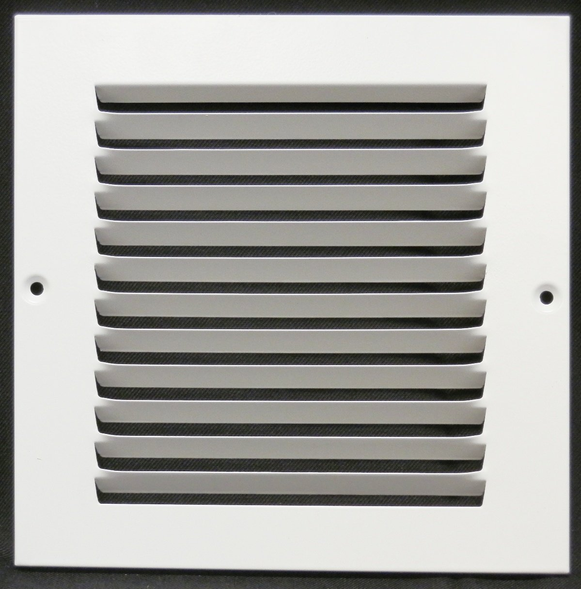 6''w X 6''h Steel Return Air Grilles - Sidewall and Cieling - HVAC DUCT COVER - White [Outer Dimensions: 7.75''w X 7.75''h]