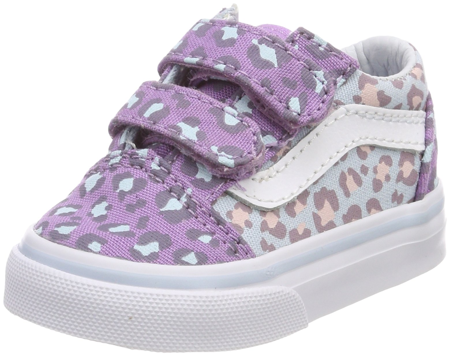 Vans Toddler Old Skool V VN0A344KQ7D (2-Tone Leopard) Baby Blue Diffused  Orchid Toddler 7 f39df7a79