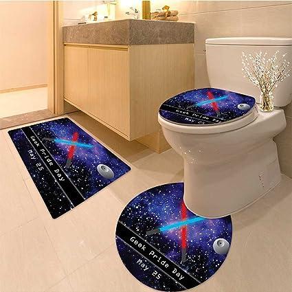 Star Wars Bath Mat.3 Piece Bath Mat Setgift For Geek Pride Day May Two Crossed