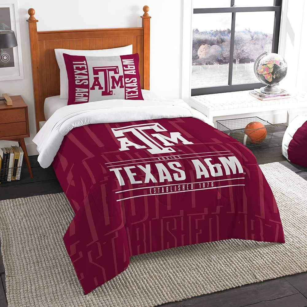 Officially Licensed NCAA Modern Take Twin Comforter and Sham