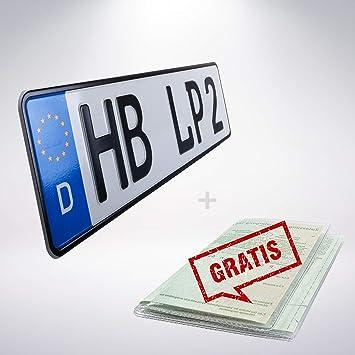 Autokennzeichen Nummernschilder 1 Stück Kfz-Kennzeichen 460 x 110 mm