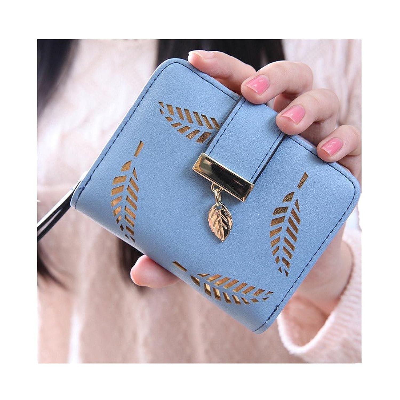 Coper @ Women Leaf Bifold Wallet Leather Clutch Card Holder Purse Handbag