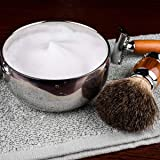 QSHAVE Stainless Steel Shaving Bowl with Lid 4 Inch
