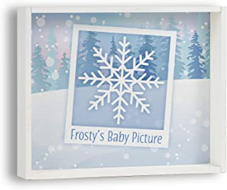 product image for Imagine Design Frosty's Baby Picture Snow Themed Box Plaque, Multi