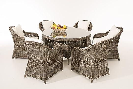 CLP Ensemble table et chaises salon de jardin STAVANGER - gris ...