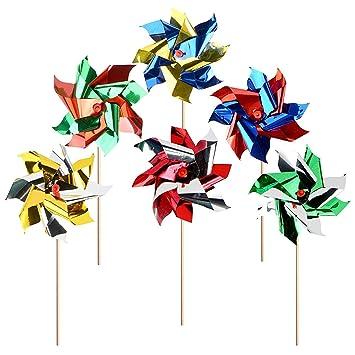 20 Pack Windmühle Windrad Für Garten Kinder Aus Wetterfester Folie