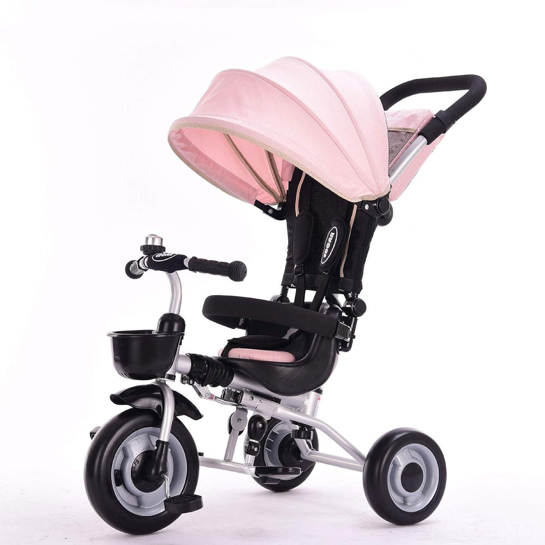 軽量ベビーカー カル三点式シートベルト折りたたみ式プッシュハンドル安全に親密な持ち運びが簡単15歳の赤ちゃんに最適  Pink B07P3KWY3N