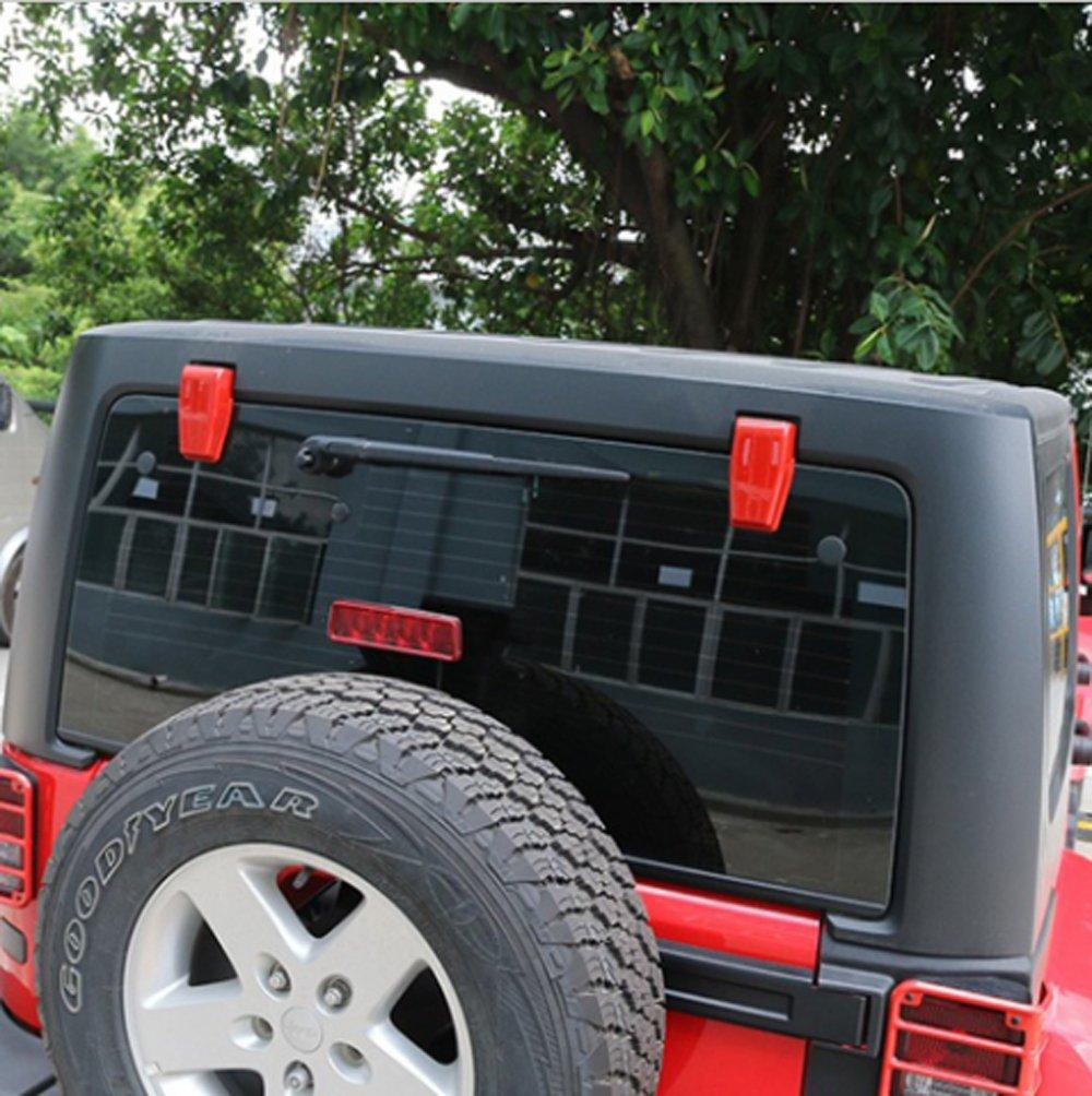 Cubierta de brazo de limpiaparabrisas Moebulb para Jeep Wrangler ...