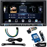 Alpine iLX-207 Apple Car Play & Android Auto Receiver With Rear View Camera, Steering Wheel Interface & Trigger Module