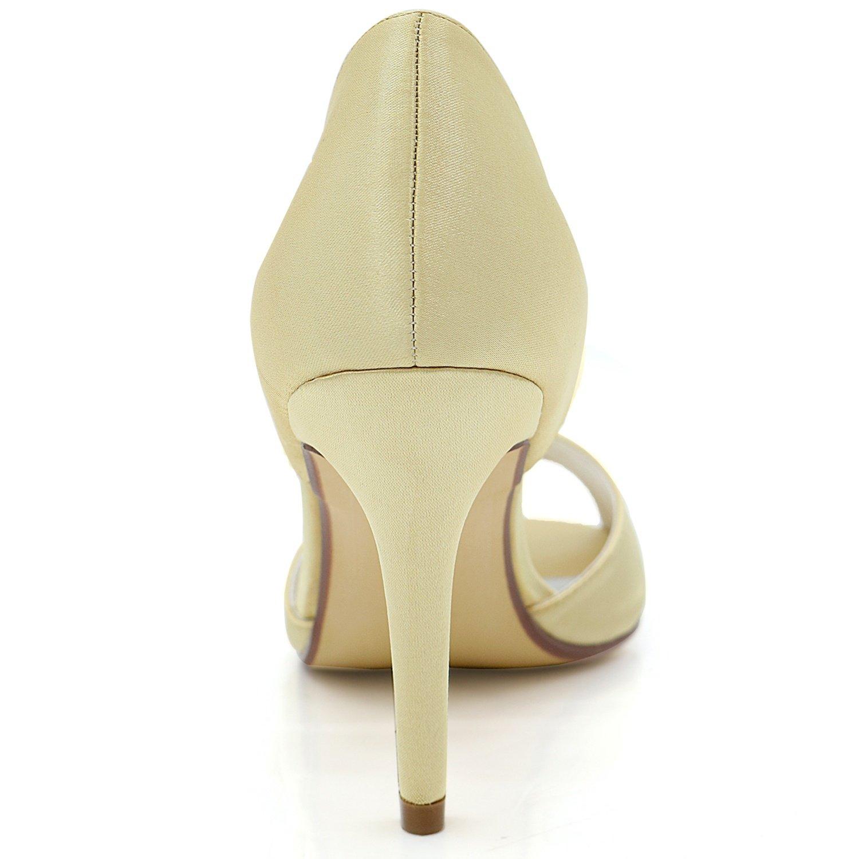 Elobaby Scarpe da Sposa per per per Donna Vestito di Perle di Raso per La Sera Tacco Alto Tacco Estate Tacco 9cm | vendita all'asta  aa957e