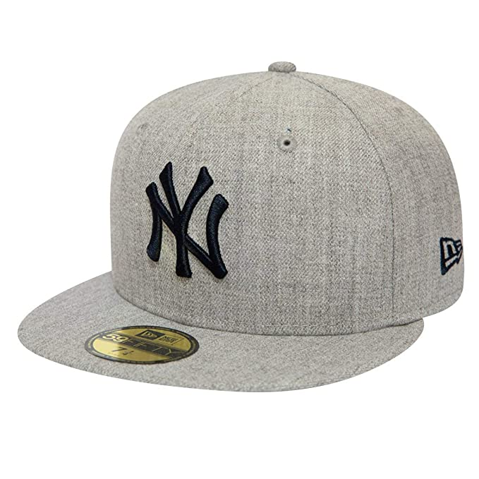 A NEW ERA ERA Era Heather Gray 59Fifty York Yankees Gorra: Amazon ...