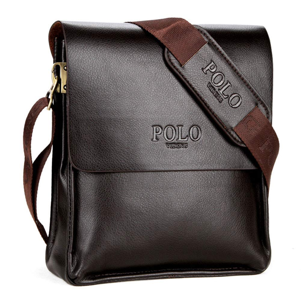 VIDENG Polo Men Bag Casual Business Leather Mens Messenger Bag Vintage Men's Crossbody Bag Purse Male
