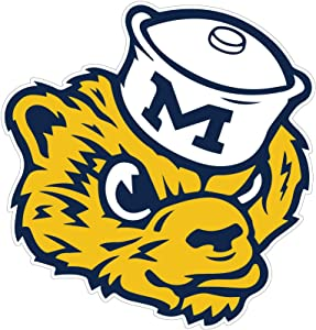 Michigan Wolverines Sticker - University of Michigan Vinyl Decal NCAA Logo Team Colors (3 in)