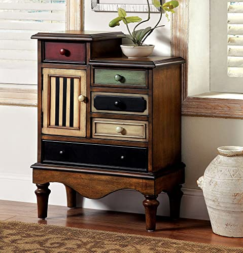 Furniture of America Neche Multi-Color Accent Drawer Chest, 22 x 22 x 21 inches