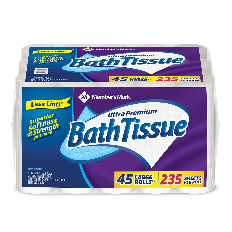 Member's Mark Ultra Premium Bath Tissue, 2 ply (232 sheets, 45 rolls) by Members Mark