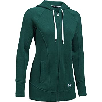under armour zip up hoodie. under armour women\u0027s wintersweet full zip hoodie arden green/white shirt up a