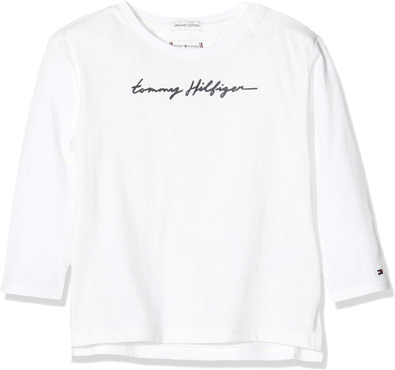 Tommy Hilfiger M/ädchen Essential Tommy Script Tee L//S Langarmshirt