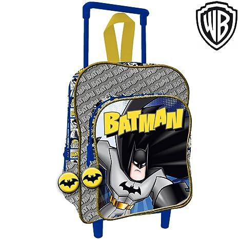 più recente 10276 7e0ad Bakaji Zaino Trolley Batman Warner Bros Originale Asilo Scuola Bambini  Viaggi Altezza 30 cm