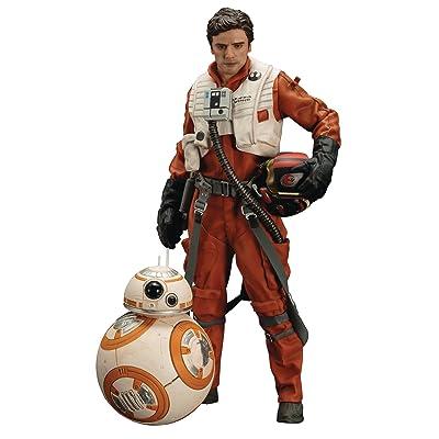 Kotobukiya Star Wars: The Force Awakens: Poe Dameron & BB-8 ArtFX+ Statue Two Pack: Toys & Games