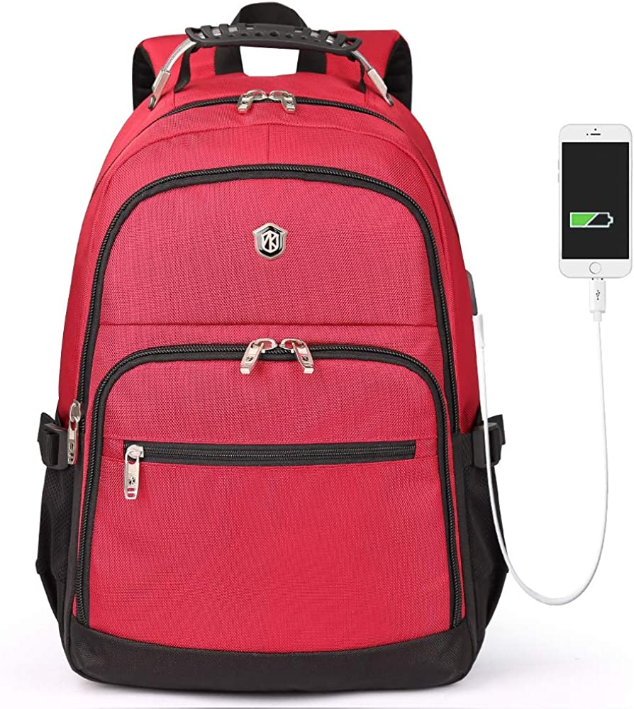 Aoking Extra Large Backpack 17 Inch Laptop Dual Travel Business College Bookbag