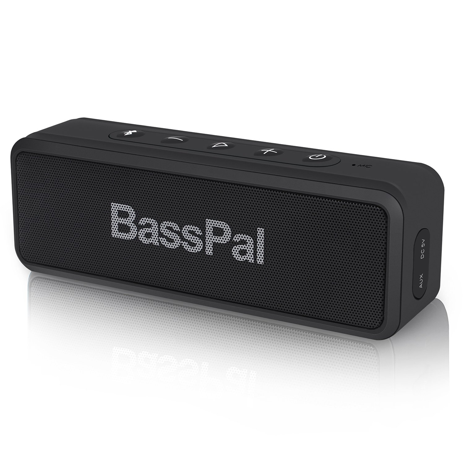 BassPal SoundRo X3 Portable Bluetooth Speaker with Loud Stereo Sound, Enhanced Bass, 24-Hour Playtime, 66 ft Bluetooth Range, Built-In Mic, Waterproof Wireless Speaker for Outdoors, Party, Travel by BassPal