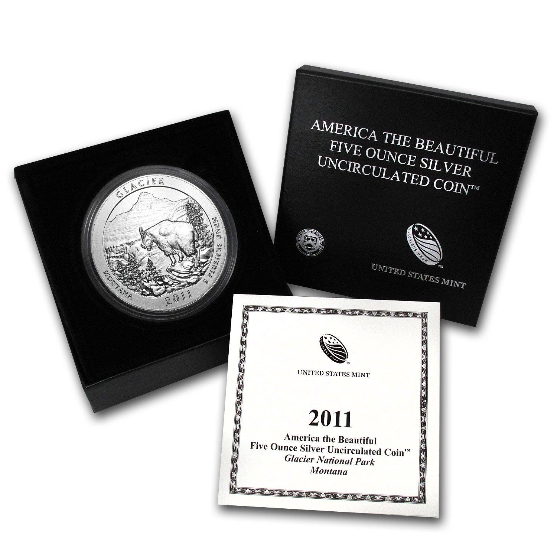 5 oz 2011 America the Beautiful ATB Glacier Silver