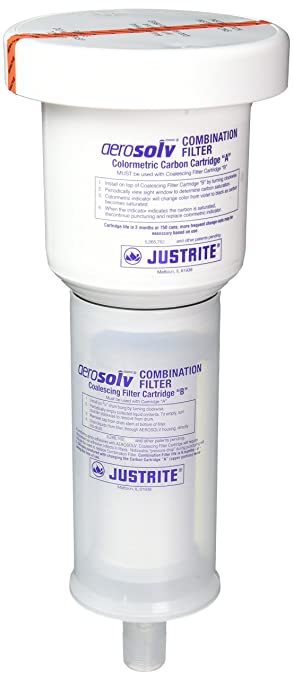 Justrite 28224 Color Changing Combination Coalescing//Carbon Filter For 28202 Or 28222