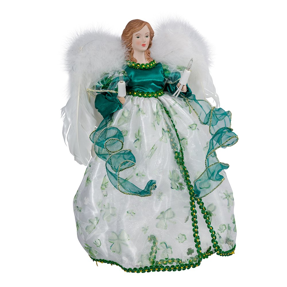 Kurt Adler UL 10-Light Angel Treetop Figurine, 12-Inch, Irish