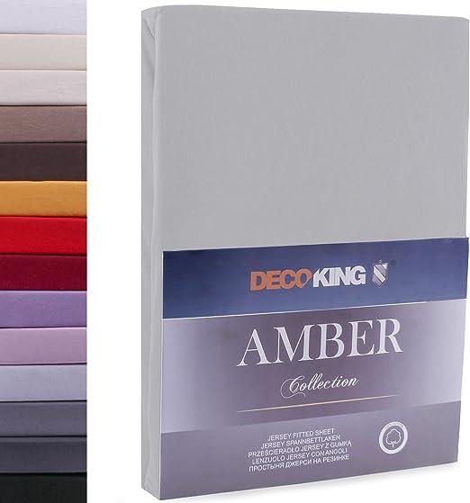 DecoKing 80x200-90x200 cm Sábana Bajera Ajustable 100% Algodón ...
