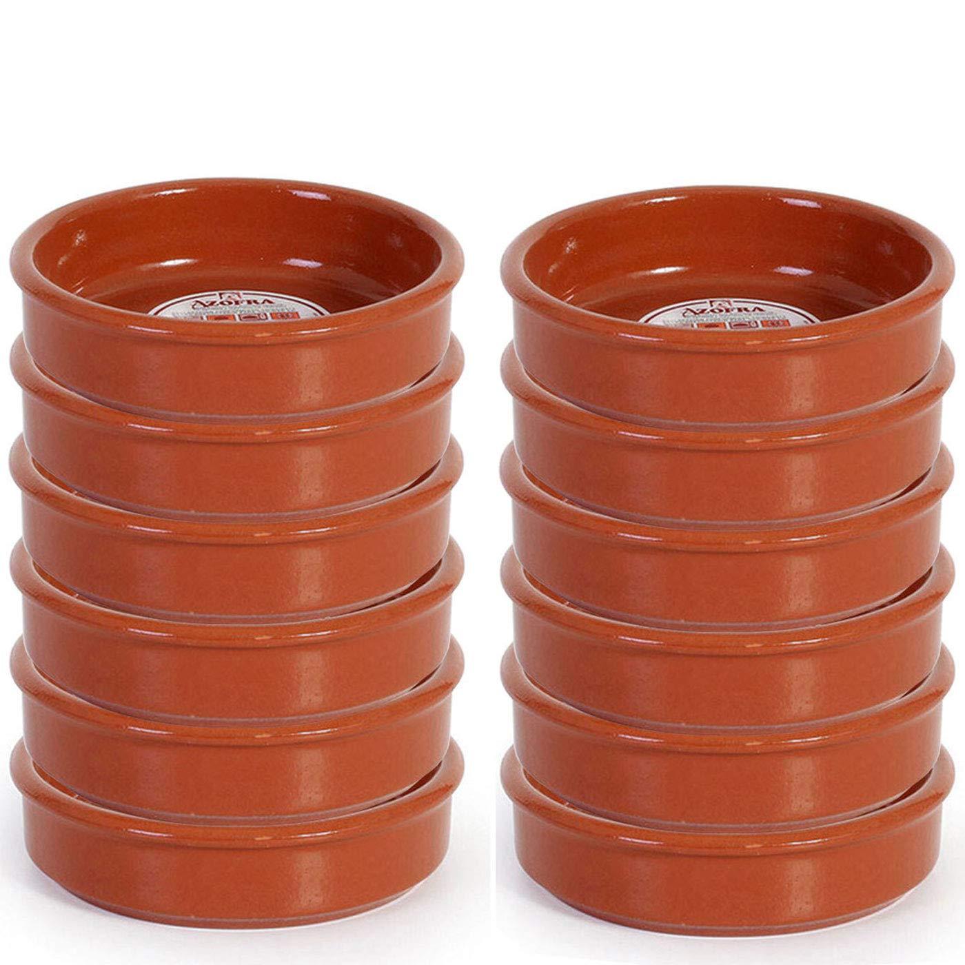 Pack de 12 cazuelas de barro de 14 cm apta para vitro: Amazon.es ...