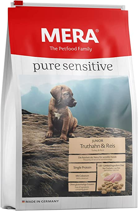 Mera Comida para Perros Pure Sensitive Junior, 12,5 kg