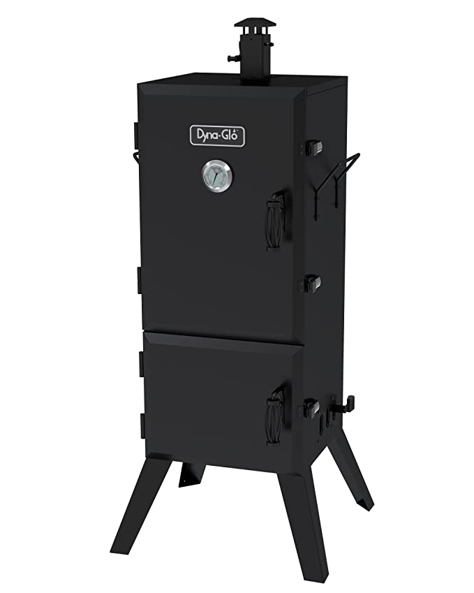 "Dyna-Glo DGX780BDC-D 36"" Vertical Charcoal Smoker – Best Family Smoker"