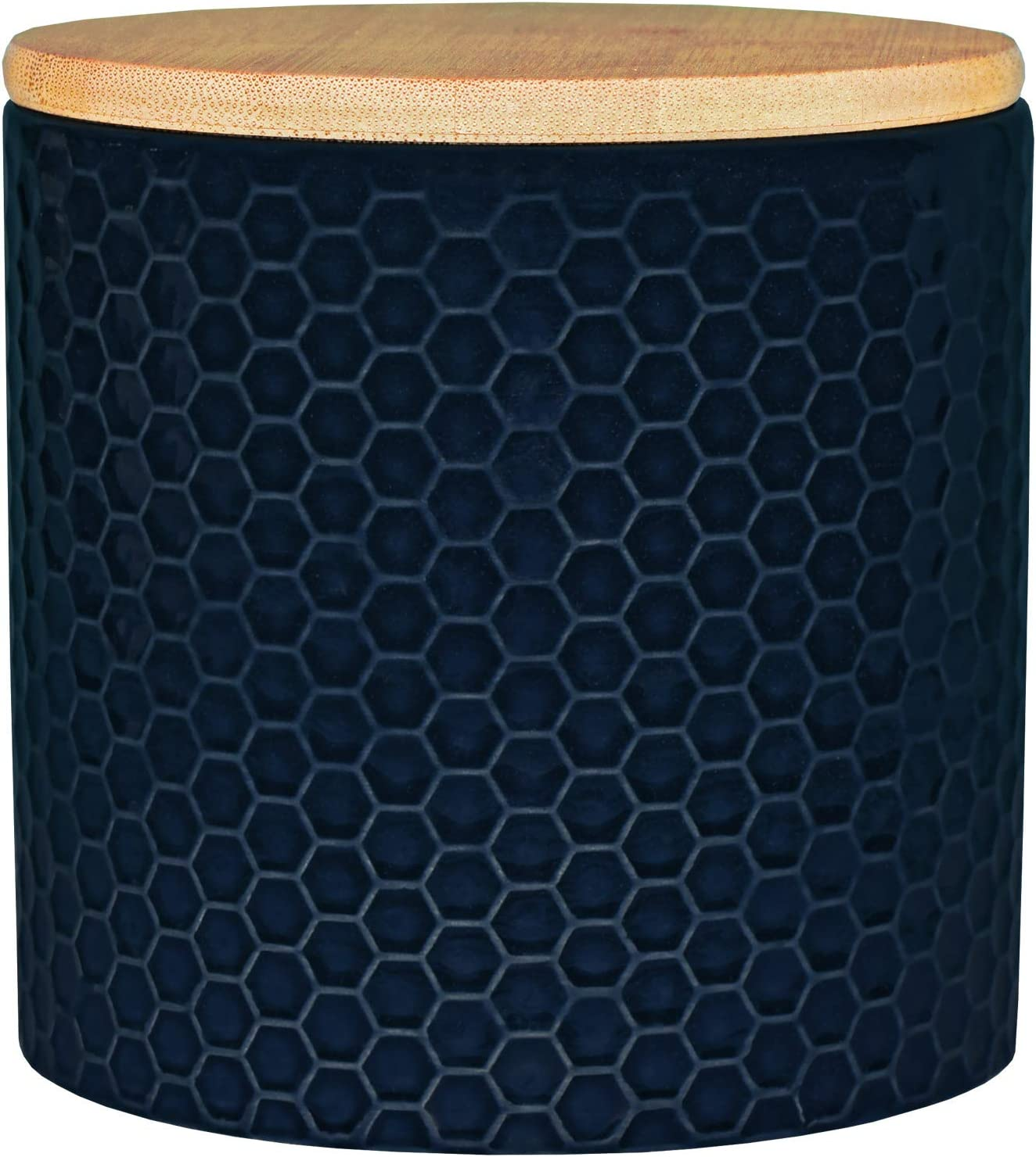Blue Donuts 33 Oz Ceramic Airtight Jar,Ceramic Airtight Food Storage Containers,Ceramic Kitchen Canisters, 975 ML Airtight Jar, Flour Jar with Lid,Airtight Food Storage Containers for Pantry,Navy Blue