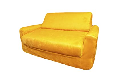 Amazon.com: Fun Mobiliario Canarias Amarillo sofá Sleeper ...