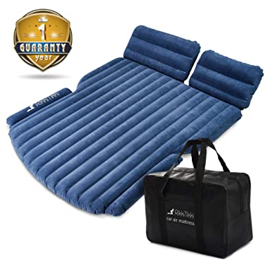 RikkiTikki SUV Car Air Mattress - Car Bed Inflatable with Pump and Suitcase - Car Mattress SUV, Minivan, Hatchback, Camping Tent