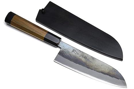 Yoshihiro Kurouchi Santoku - Cuchillo multiusos (acero ...