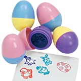 6 Easter Egg Stampers - Measure 1.5 Inches for Easter eggs hunt game, Party, Kid's stamps activities
