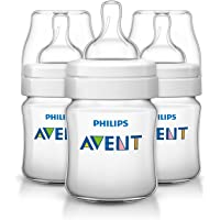 Philips Avent Anti-Colic Baby Bottles 4oz, 3 pack, SCF560/37