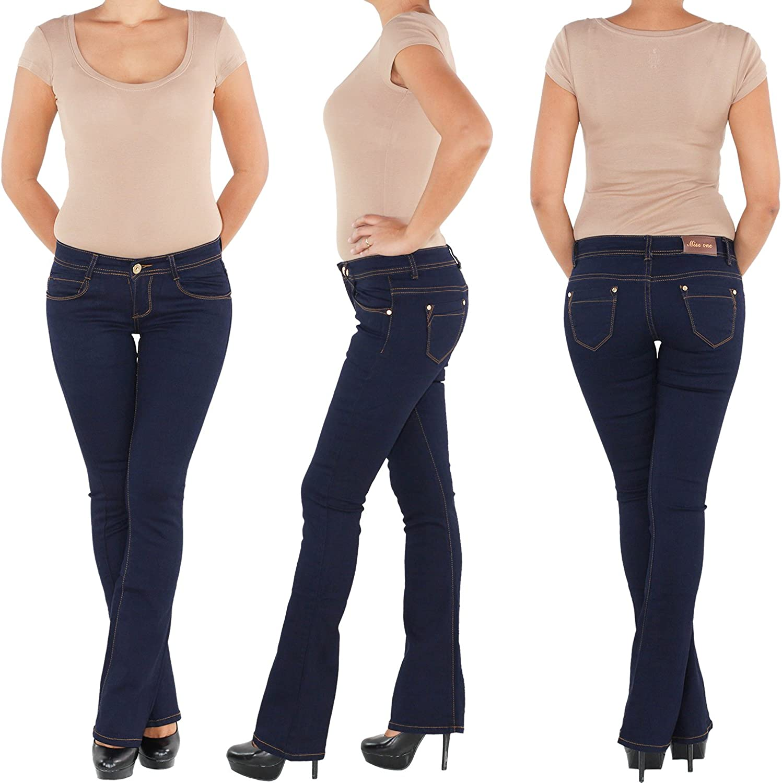 Sotala Damen Jeans Hose Schlaghose Bootcut Stretchhose