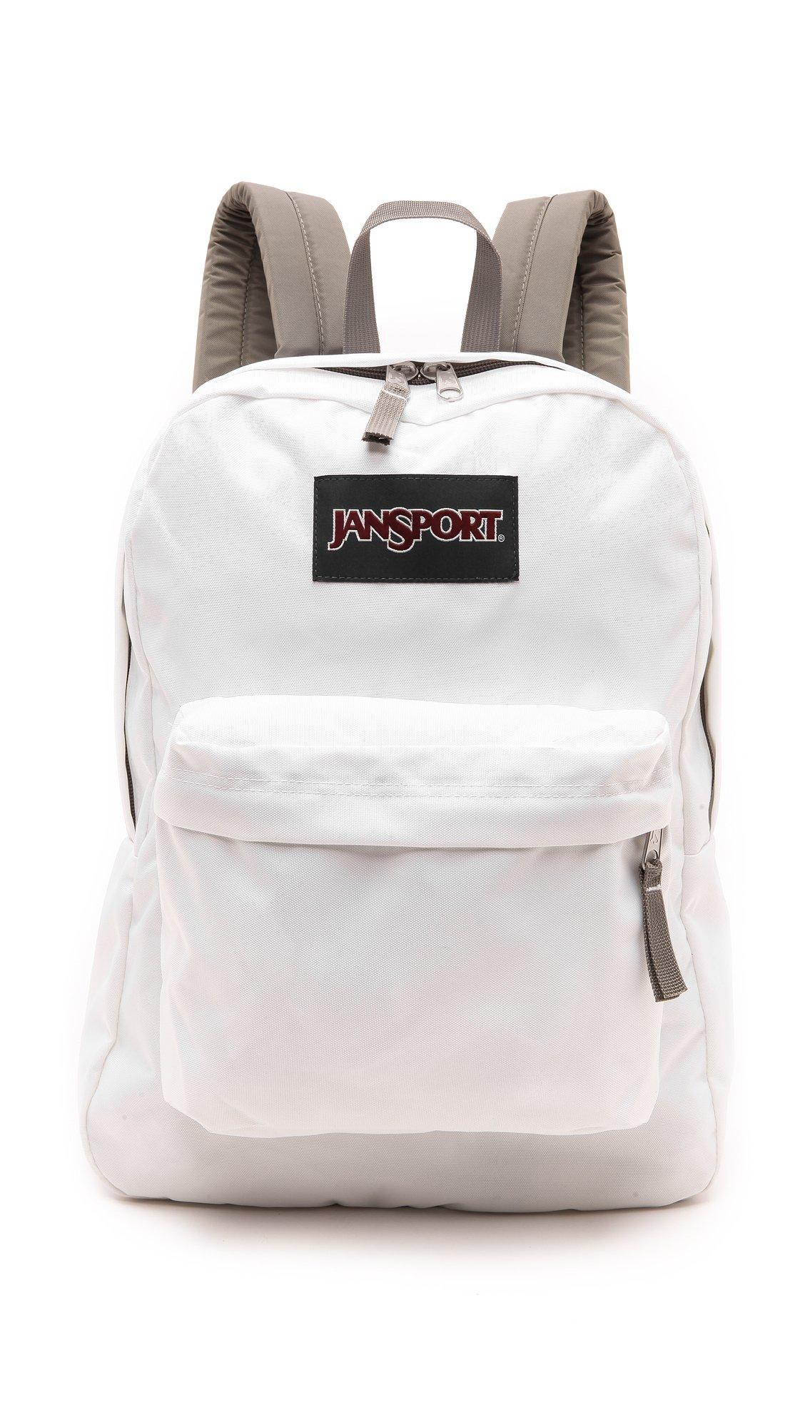 JanSport Superbreak Backpack (White/Grey) by JanSport