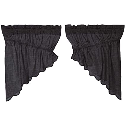 VHC Brands Arlington Prairie Swag Scalloped Lined Set 2-36x36x18