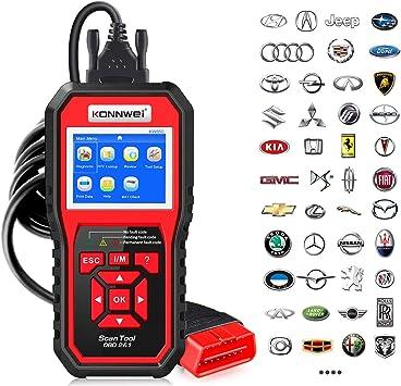 Amazon Com Konnwei Kw850 Professional Obd2 Scanner Auto Code Reader Diagnostic Check Engine Light Scan Tool For Obd Ii Cars After 1996 Original Automotive
