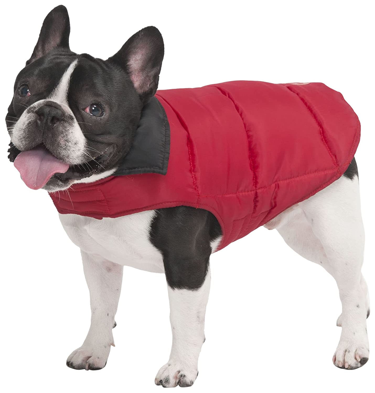 Red Small Red Small Fashion Pet Reversible Arctic Dog Coat, Small, Red