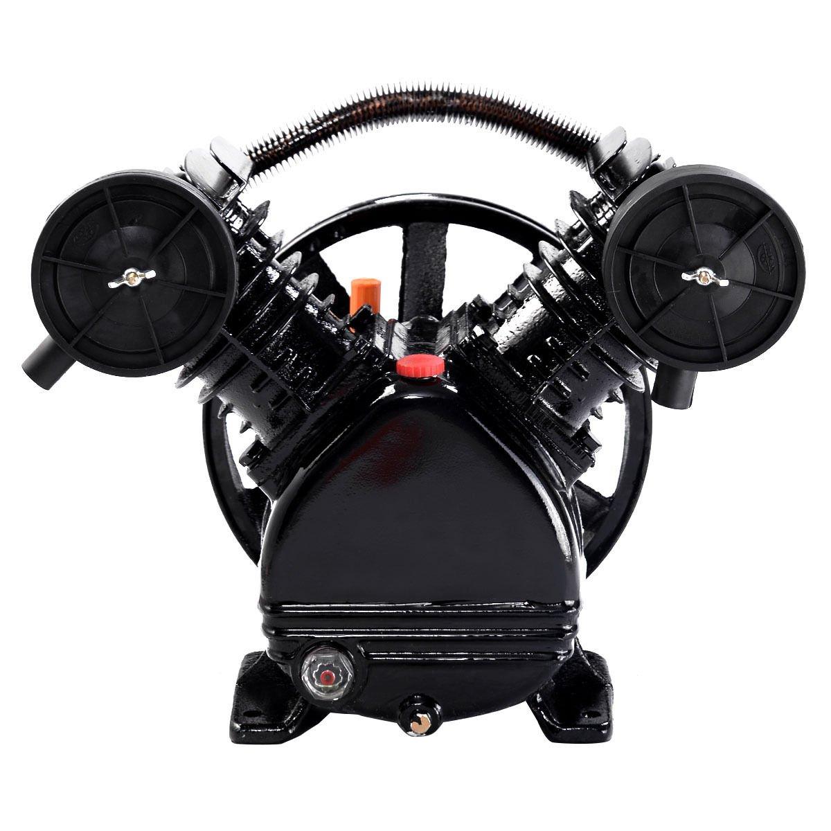 3HP 2 Piston V Style Twin Cylinder Air Compressor Pump Motor Head Air Tool Lotus Analin TL31105