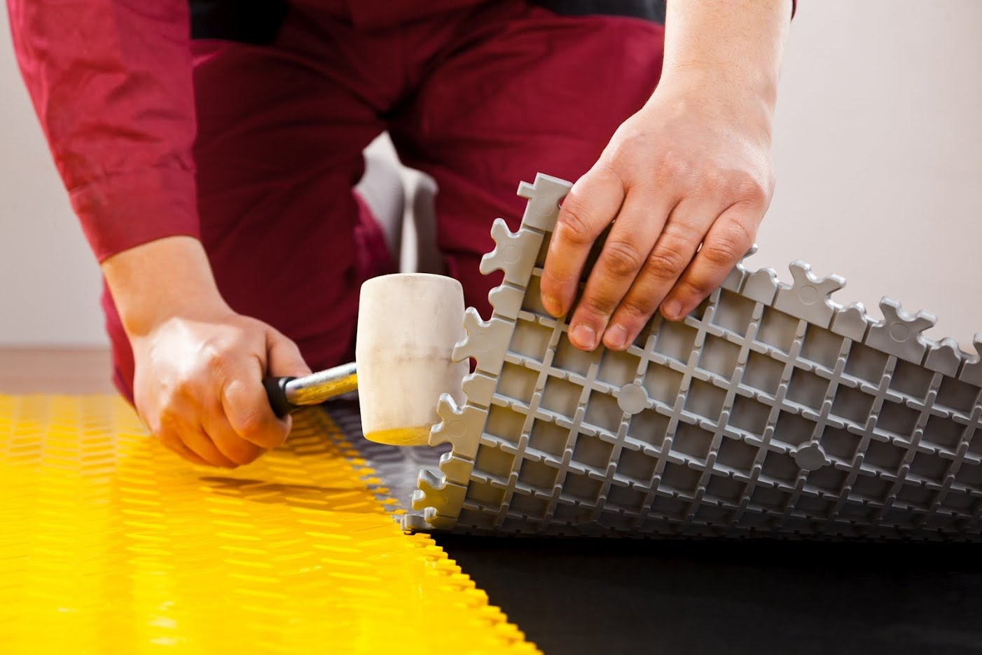 - Mittlere Belastbarkeit Grau Leder Fortelock/® Vinylfliese 2060 Privat-Anwendung
