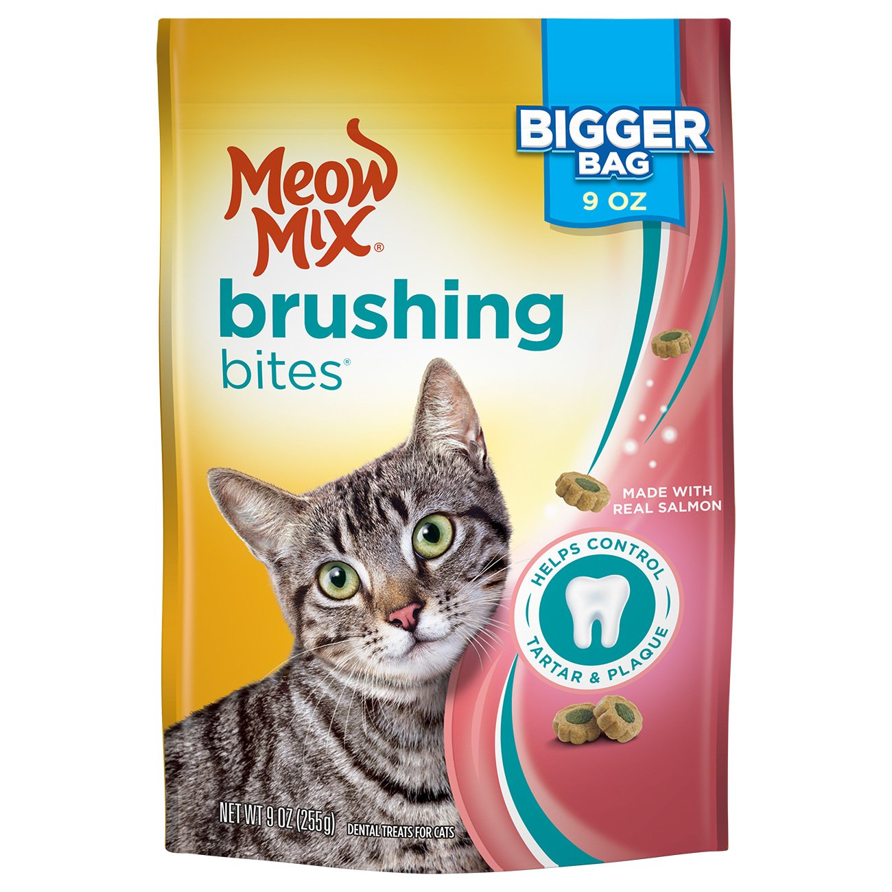 Meow Mix Brushing Bites Dental Cat Treats by Meow Mix