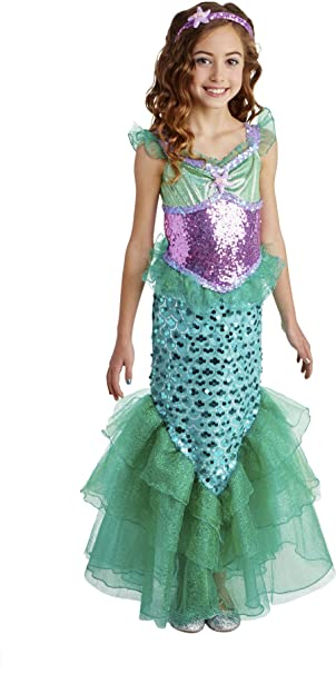 Amazon.com: Disfraz de sirena para niñas, color azul: Clothing